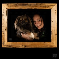 Besitzer mit Haustier
