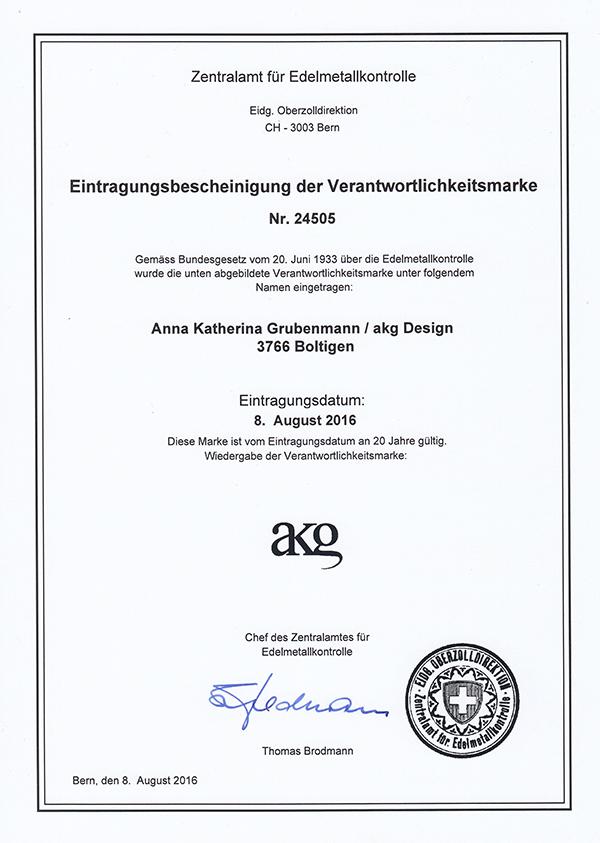 akg Design - Verantwortlichkeitsmarke